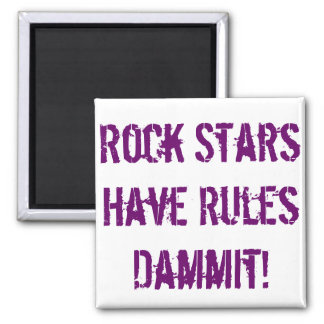 Rules of Rock Stars Magnet