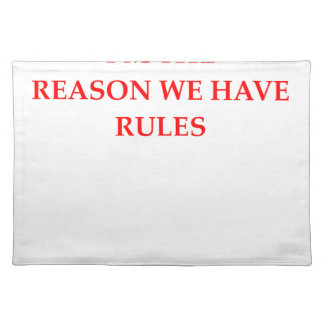 RULES PLACEMAT