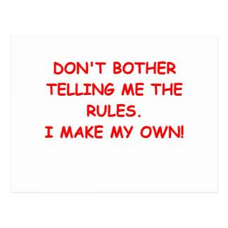 rules postcard