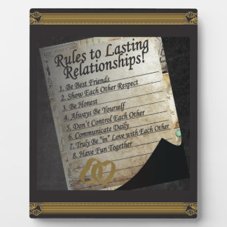 Rules to Lasting Relationships Plaque
