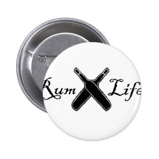 Rum Life Pinback Button