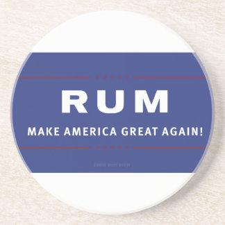 Rum Make America Great Again Beverage Coasters