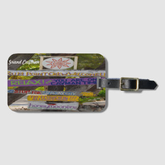 Rum Point Grand Cayman. Luggage Tag