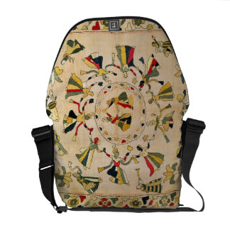 Rumal: square embroidery cover showing Punjabi dan Courier Bags