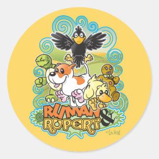 Ruman and Rupert Crest Stickers