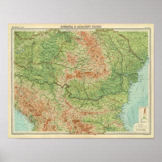 Rumania & adjacent states poster