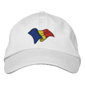 Rumania Romania wavy flag Embroidered Hat