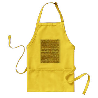 Rumanian traditional embroidery, gold adult apron