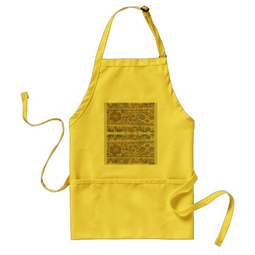 Rumanian traditional embroidery, gold apron