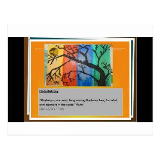 Rumi and colors postcard