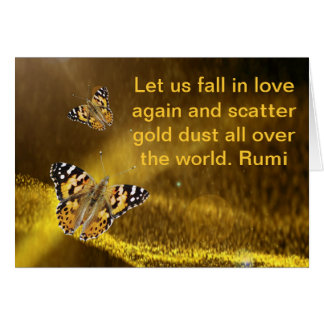 Rumi Fall in love again Card