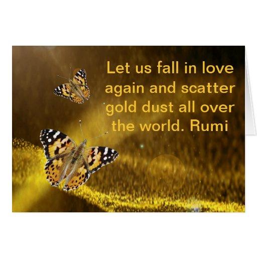 Rumi Fall in love again Greeting Cards