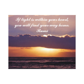 Rumi If light is in your heart Stretched Canvas Prints