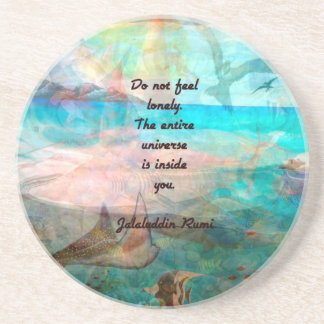 Rumi Inspiration Quote About The Universe Beverage Coaster