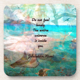 Rumi Inspiration Quote About The Universe Beverage Coasters