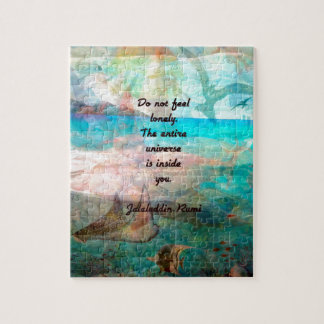 Rumi Inspiration Quote About The Universe Jigsaw Puzzle