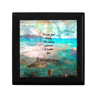 Rumi Inspiration Quote About The Universe Small Square Gift Box