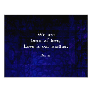 Rumi Inspirational Love Quote About Feelings Photograph