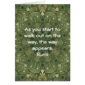 Rumi Inspirational Quotation Saying about Faith Card