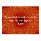Rumi Inspirational Quotation Saying about Faith Postcard