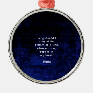 Rumi Inspirational Taking Action Quote Silver-Colored Round Decoration