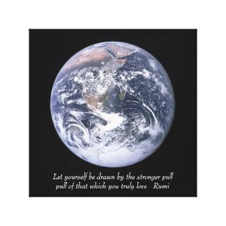 Rumi Love and earth Canvas Print