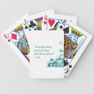 Rumi love quote bicycle playing cards