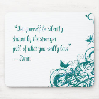Rumi love quote mouse pad