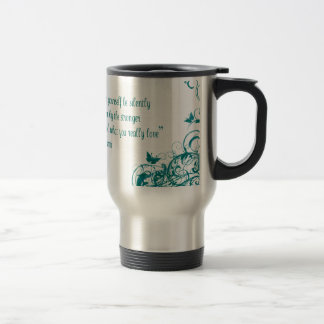 Rumi love quote travel mug