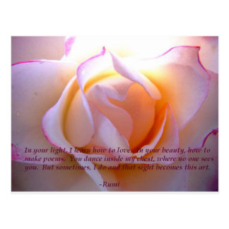 Rumi loverose postcard