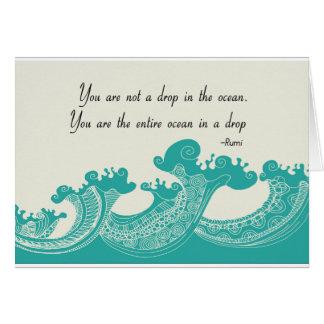 Rumi Ocean quote Card