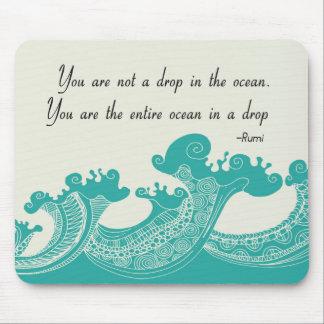 Rumi Ocean quote Mouse Pad