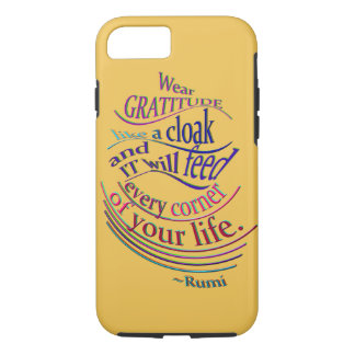 Rumi on Gratitude iPhone 8/7 Case