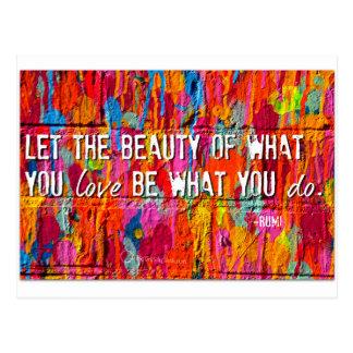 Rumi Postcard
