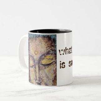 Rumi Quote Buddha Art Coffee Mug