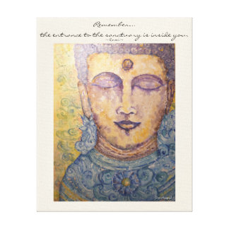 Rumi Quote Buddha Watercolor Canvas Wall Art