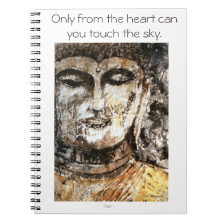 Rumi Quote Buddha Watercolor Spiral Notebook