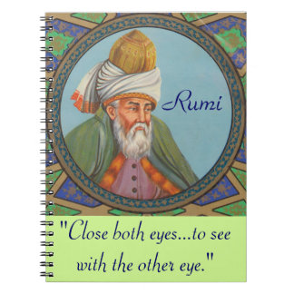 Rumi quote notebook