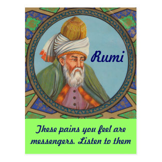 Rumi quote postcard