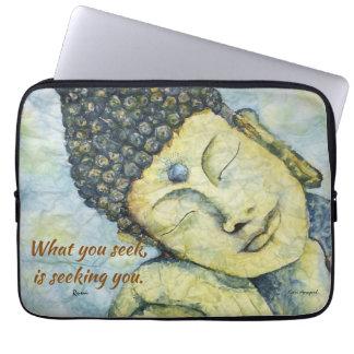 Rumi Quote Zen Buddha Art Laptop Sleeve