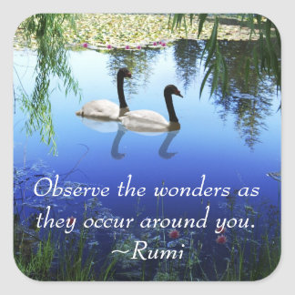 Rumi The wonders Square Sticker