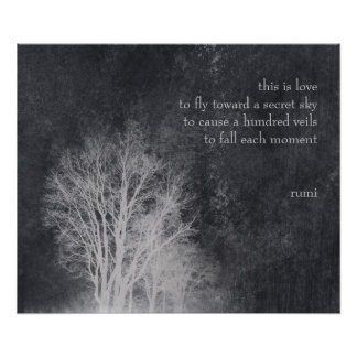 "rumi ""this is love"" poetry quote poster"