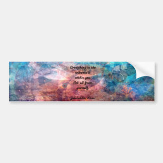 Rumi Uplifting Quote About Energy And Universe Bumper Sticker