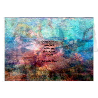 Rumi Uplifting Quote About Energy And Universe Card