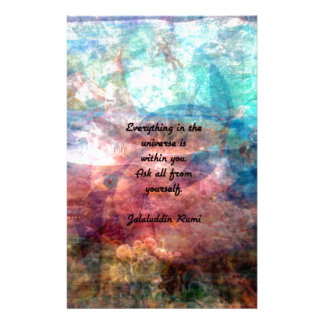Rumi Uplifting Quote About Energy And Universe Custom Stationery
