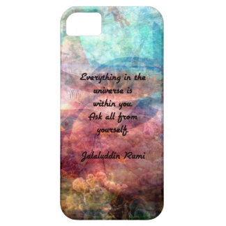 Rumi Uplifting Quote About Energy And Universe iPhone 5 Cases
