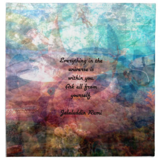 Rumi Uplifting Quote About Energy And Universe Napkin