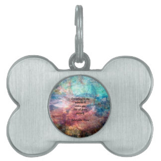 Rumi Uplifting Quote About Energy And Universe Pet Name Tag