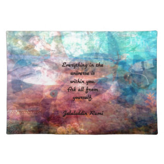 Rumi Uplifting Quote About Energy And Universe Placemat