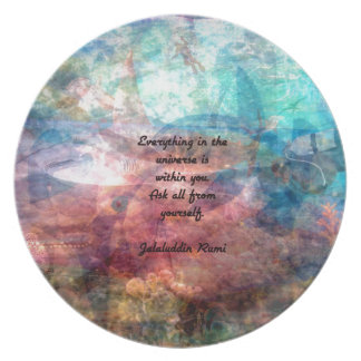 Rumi Uplifting Quote About Energy And Universe Plate